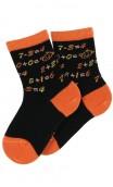 Mi-chaussettes motif Addition en coton
