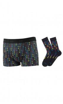 Coffret cadeau 1 boxer + 1 paire de chaussettes Achile