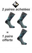 2 paires + 1 gratuite de chaussettes Double-Trek pour randonnée