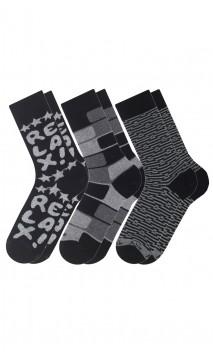 Pack de 3 paires de chaussettes fantaisies  Achile