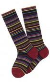 Chaussettes hautes à rayures modèle Adèle en coton