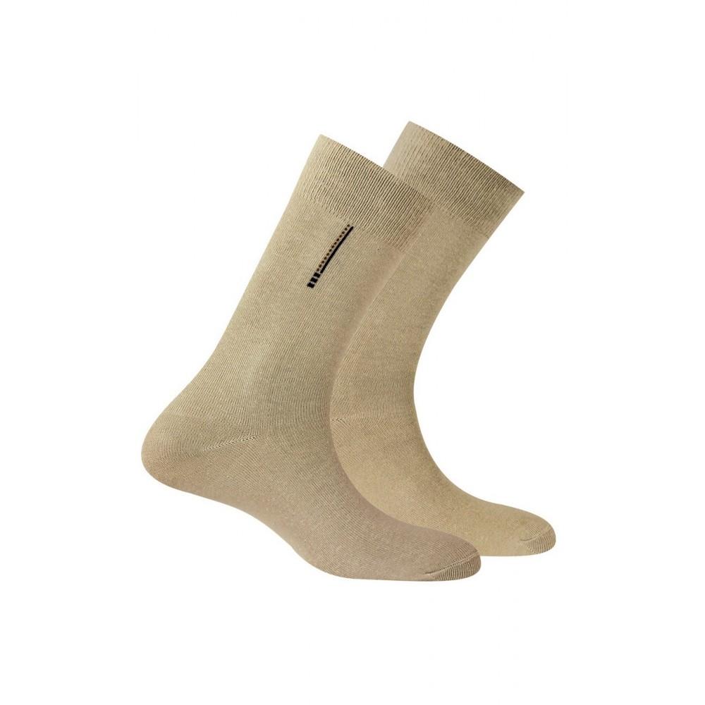 Chaussettes en pur coton vendues en lot de 2 paires