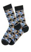 Chaussettes motif pyramides en coton