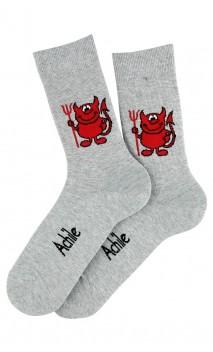 Mi-chaussettes Diavolo en coton