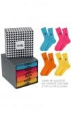 Boîte cadeau Achile de 4 paires de chaussettes de couleur