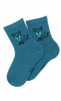 Mi-chaussettes motif renard Foxy en coton
