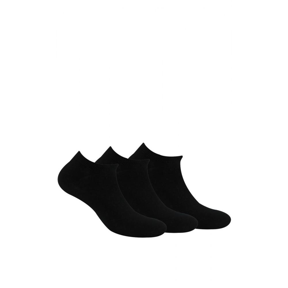 Pack de 3 paires de chaussettes invisibles unies en coton