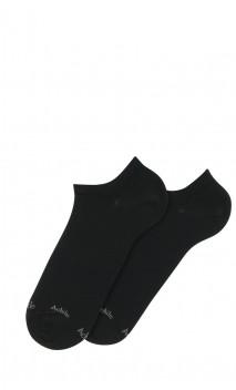 Chaussettes invisibles unies en coton