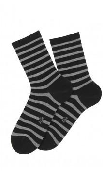 Mi-chaussettes modèle Maïwen en coton