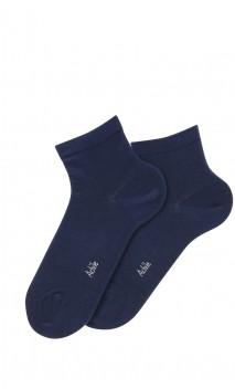 Socquettes unies en coton