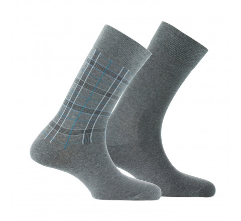 Lot de 2 paires de mi-chaussettes Tartan MADE IN FRANCE