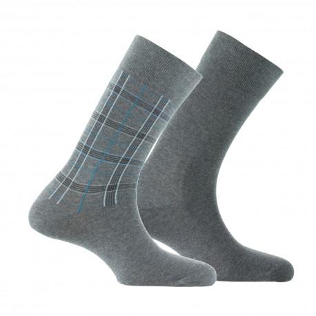 Lot de 2 paires de mi-chaussettes Tartan MADE IN FRANCE