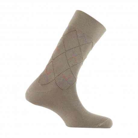Mi-chaussettes all over losanges MADE IN FRANCE