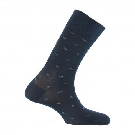 Mi-chaussettes Plumetis en fil d'écosse MADE IN FRANCE