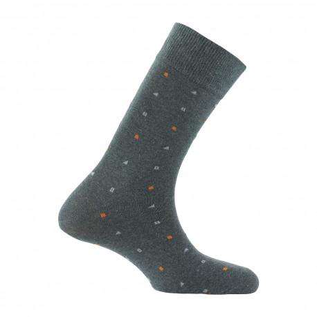 Mi-chaussettes all over micro-géométriques