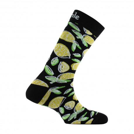 Mi-chaussettes Citron