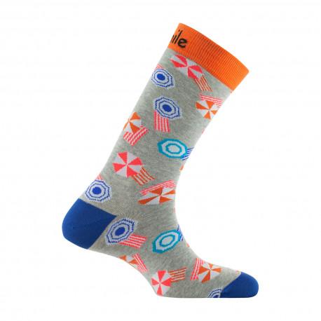 Mi-chaussettes mixtes Plage en coton