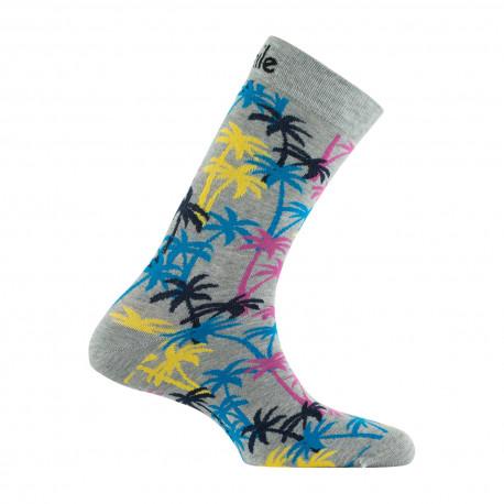 Mi-chaussettes Palmiers en coton