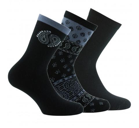 Lot de 3 paires de mi-chaussettes Cachemires