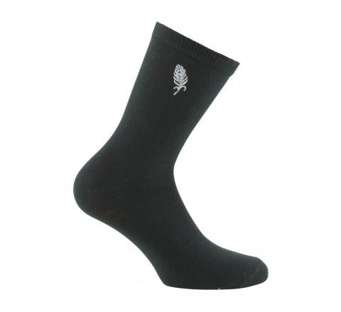 Mi-chaussettes motif plume de Paon surbrodé
