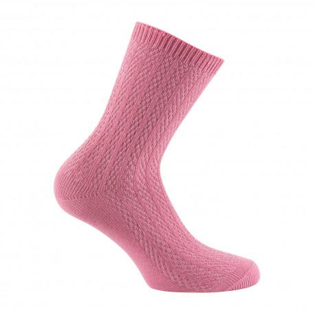 Mi-chaussettes fantaisies de maille