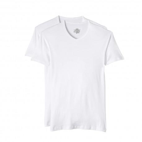 Lot de 2 Tee-shirts Col V DIM