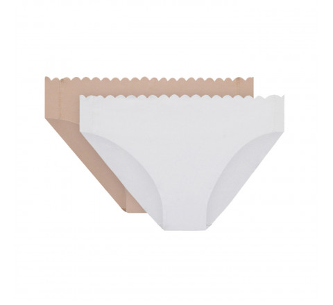 Lot de 2 slips Body Touch en coton DIM