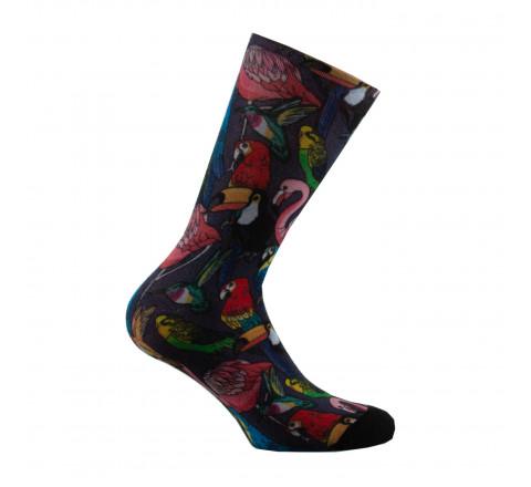 Mi-chaussettes imprimées Oiseaux