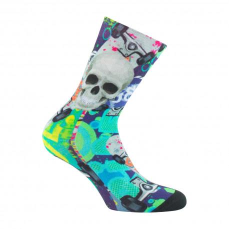 Mi-chaussettes imprimées tête de mort