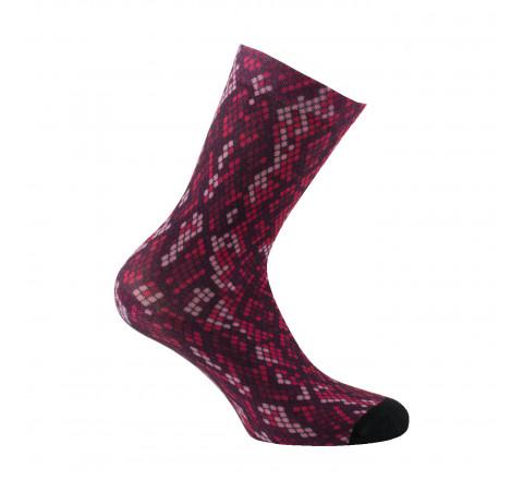 Mi-chaussettes imprimées Peau de serpent