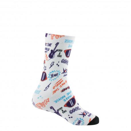Mi-chaussettes imprimées Rock