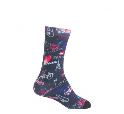 Mi-chaussettes imprimées Paris-Londres