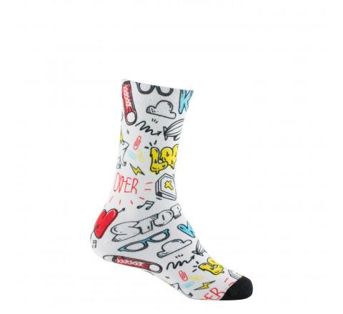 Mi-chaussettes imprimées LOVE