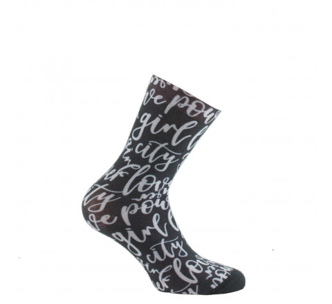 Mi-chaussettes imprimées Typo