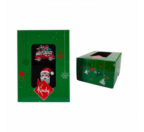 Coffret de Noël : 2 paires brodées pour hommes