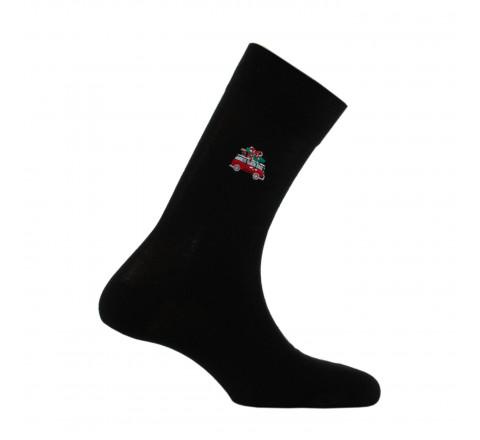 Mi-chaussettes surbroderie Camion de Noël