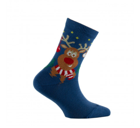 Mi-chaussettes Rudolphe le renne MADE IN FRANCE