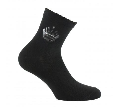 Mi-chaussettes couronne placée