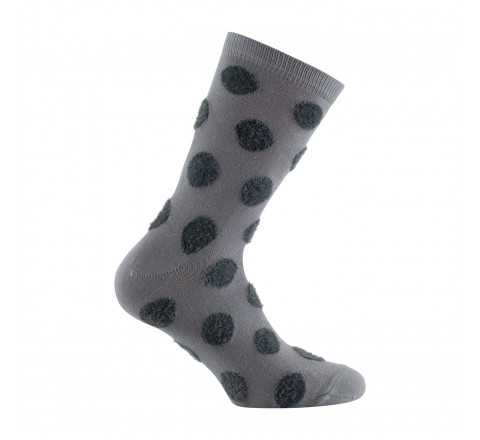 Mi-chaussettes all over pois en velours
