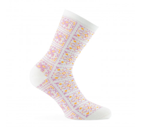Mi-chaussettes motif bandana Made in France