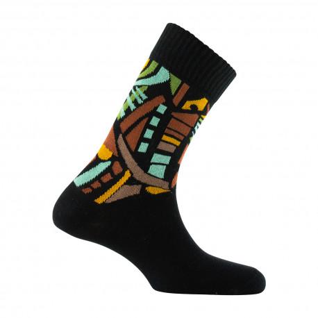Mi-chaussettes motifs vitraux