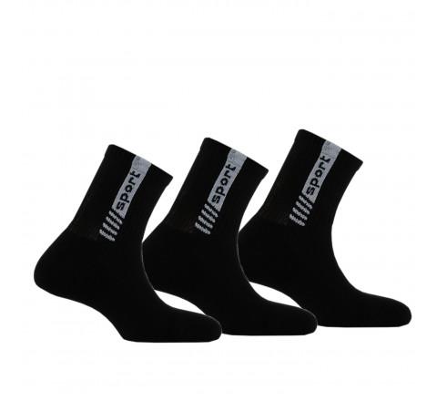 Lot de 3 paires de chaussettes tiges courtes Sport anti-choc
