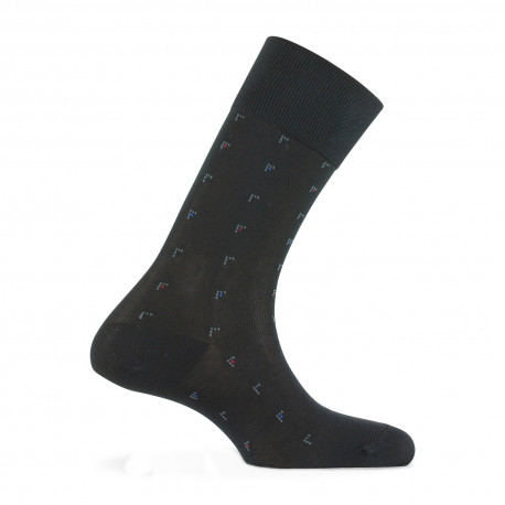Mi-chaussettes all over plumetis Made in France