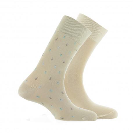 Lot de 2 paires de mi-chaussettes Plumetis Made in France