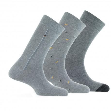Lot de 3 paires de mi-chaussettes assorties