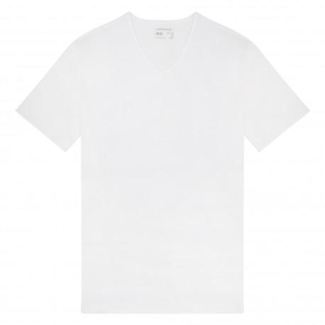 T-shirt col V en fil d'écosse MARINER