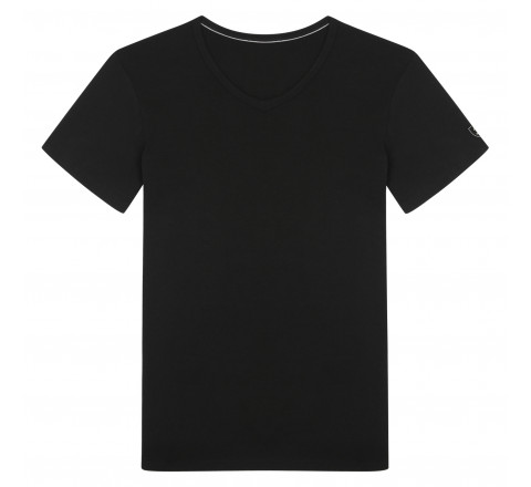 T-shirt col V en Viscose de Bambou MARINER