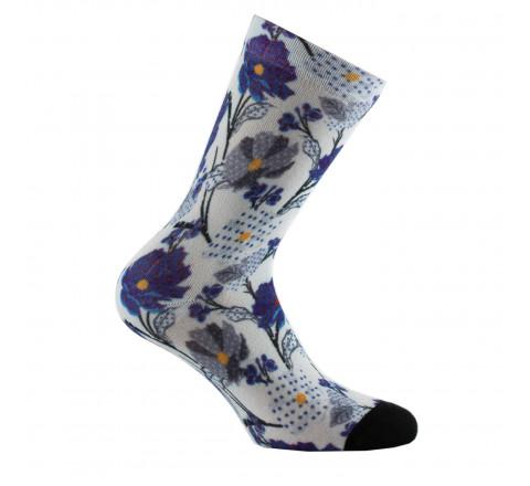 Mi chaussettes imprimées fleurs des champs