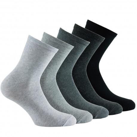 Lot de 5 paires de socquettes camaïeux