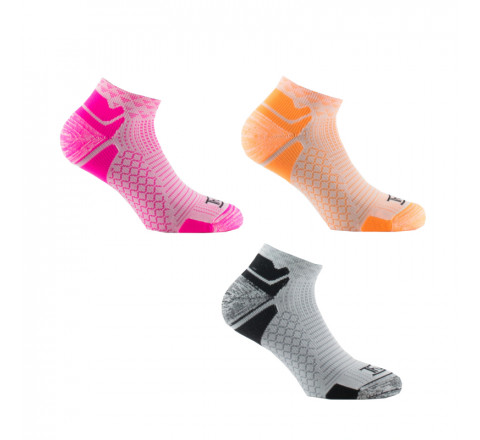Lot de 3 paires de Socquettes Color-Run